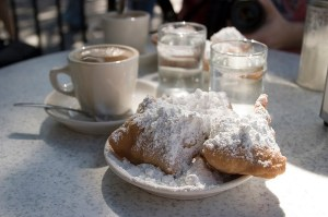 Beignets and chicory coffee