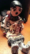 Ginny Merett made this Storyteller Doll that keeps me company.