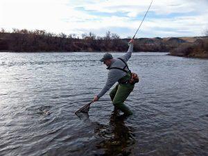 He is still fishing