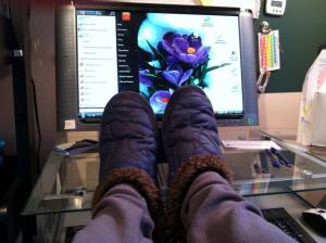 slippers before writing