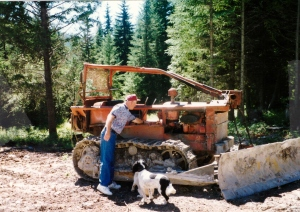 inspecting logging equipment.