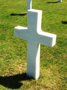 D-Day single headstone
