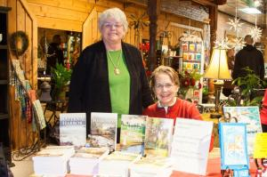 Marie and Shirley Rovik with their books